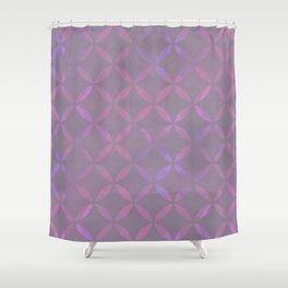 Round Pink Grey Pattern Shower Curtain