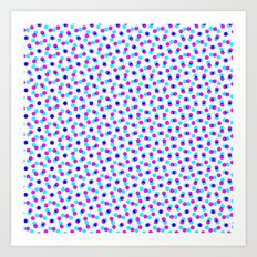 PINK & BLUE DOT Art Print