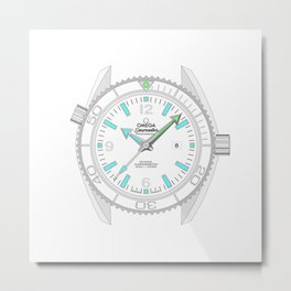 Omega Seamaster - Planet Ocean - 232.30.38.20.04.001 Metal Print