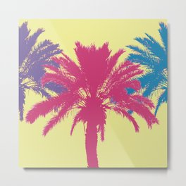 Tropical palm tree silhouettes Metal Print