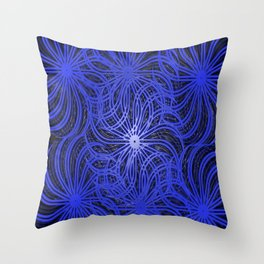 Cobalt Pinwheels Throw Pillow