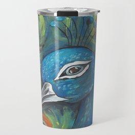 Peacock Head Travel Mug