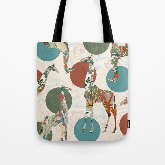 Giraffe Polka Tote Bag