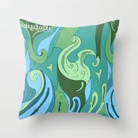 Throw Pillows featuring Saudade 2 by Dennis Wilder