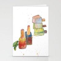 nail polish Stationery Cards featuring Nail Polish by Alia