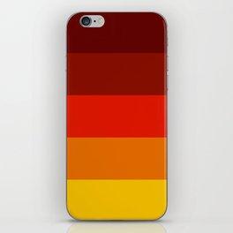 Multicolor Retro Strips iPhone Skin