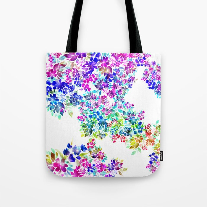 Watercolor Lei Tote Bag