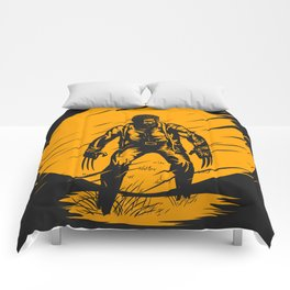 Logan Yellow Art Comforters