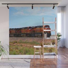 Orange BNSF Engines Wall Mural