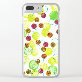 Spirals and Circles Clear iPhone Case
