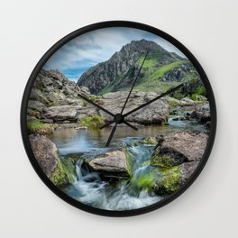 Tryfan Mountain Stream  Wall Clock