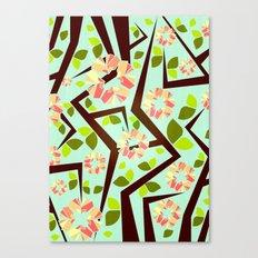 Blooming Trees Pattern III Canvas Print