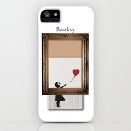 Girl With the Red Balloon Banksy Shredded iPhone Case