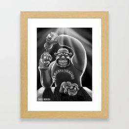 Procrastination (black and white) Framed Art Print