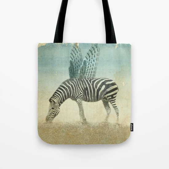 on the wings Tote Bag