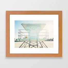 Beach Tower Framed Art Print