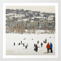 Winter in the park Art Print