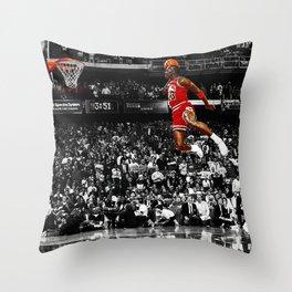 MichaelJordan Poster Throw Pillow