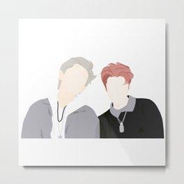 EXO Sehun and Chanyeol Metal Print