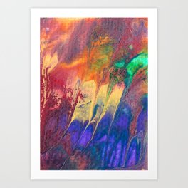 Colorful Rainbow Flow Painting Art Print