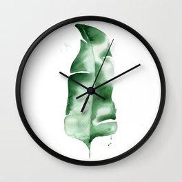 Banana Leaf no. 2 Wall Clock