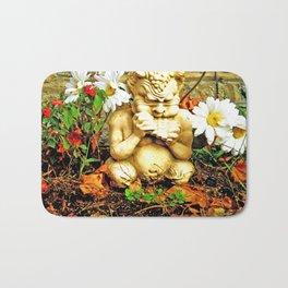 Mystical Flowers and Statue Bath Mat