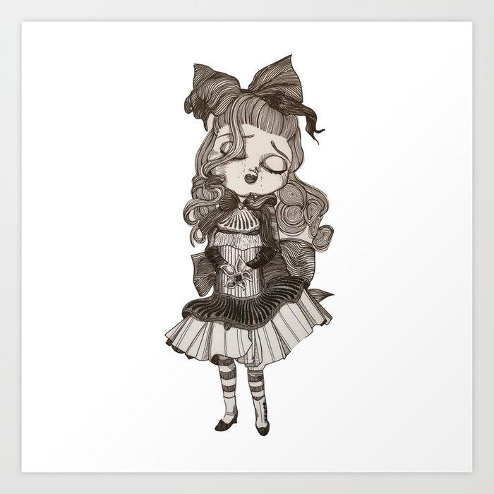 Sleeping Bride Art Print