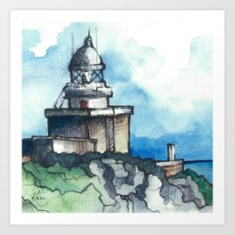 El Faro de Finisterre Art Print