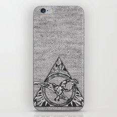 Raven On Grey iPhone & iPod Skin