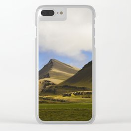 Iceland Mountains - Travel Photography Art Clear iPhone Case