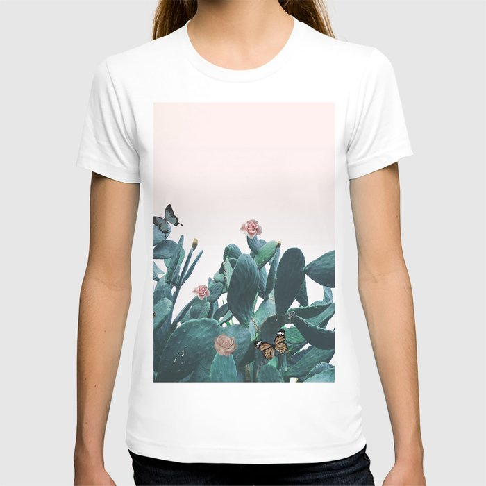 Cactus & Flowers - Follow your butterflies T-shirt
