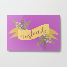 Austenite I Metal Print