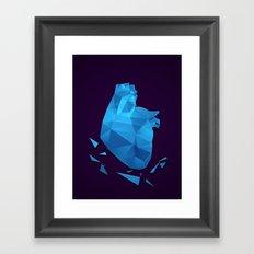 My fractured heart Framed Art Print