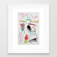 outdoor Framed Art Prints featuring Outdoor Plants by JamesMakeArt