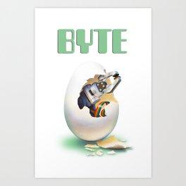 Byte Egg Art Print