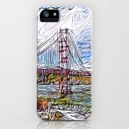 Golden Gate Bridge abstract iPhone Case