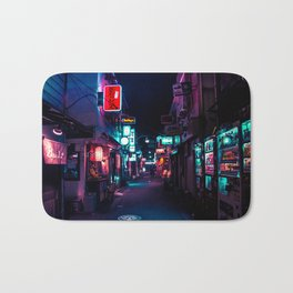 Late Night in Shinjuku's Golden Gai Bath Mat