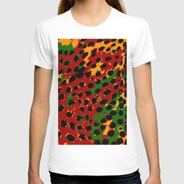 Cheetah Spots in Red, Yellow and Green T-shirt