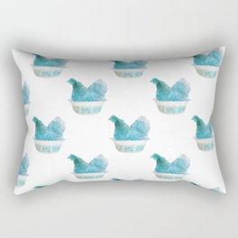 Animals in vintage bowls: Chicken Rectangular Pillow