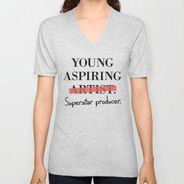 Young Aspiring Artist parody Superstar Producer Unisex V-Neck