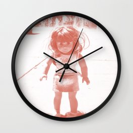 Hello (red) Wall Clock
