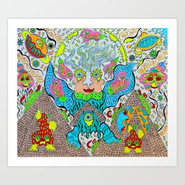 Supersonic Angel Pyramid Blaster Art Print