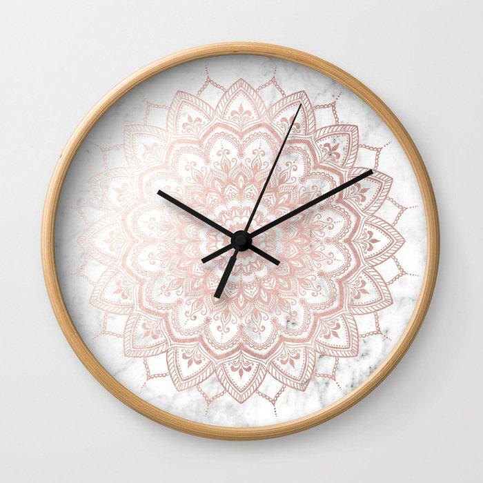 Pleasure Rose Gold Wall Clock
