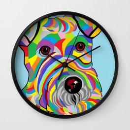 Wire Fox Terrier Wall Clock