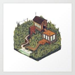 Squared Landscape III Art Print