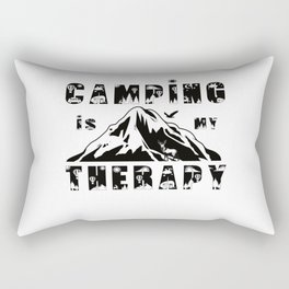Camping Is My Therapy Rectangular Pillow