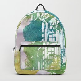 Travel - New York,fire escape Backpack