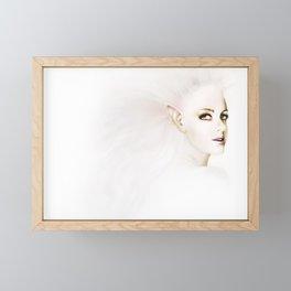 White Elf Framed Mini Art Print