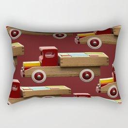 Vintage wooden toy truck #decor #society6 #buyart Rectangular Pillow