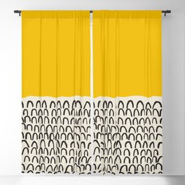 Mid century modern, mid-century wall art, print, geometric wall art, abstract wall art, interior, matisse, picasso, drawing, decor, design, bauhaus, abstract, decoration, home, gift, contemporary, paint Blackout Curtain